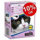6 x 370g Bozita Tetra Pak Wet Cat Food - 10% Off!*
