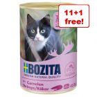 12 x 410g Bozita Wet Cat Food Cans - 11 + 1 Free!*