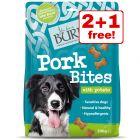 3 x 200g Burns Dog Treats - 2 + 1 Free!*