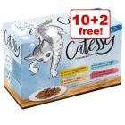 12 x 100g Catessy Wet Cat Food Pouches - 10 + 2 Free!*
