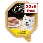 28 x 150g Cesar Trays Wet Dog Food - 22 + 6 Free!*