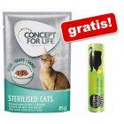 24 x 85 g Concept for Life + Cosma Original Snackies, kurczak, 26g gratis!
