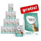 12 x 85 g Concept for Life hrană umedă + 400 g Concept for Life gratis!