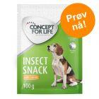2 x 100 g Concept for Life Insect Snack i prøvepakke!