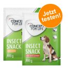 2 x 100 g Concept for Life Insect Snack im Probierpaket!