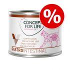 6 x 200 g Concept for Life Veterinary Diet Gastro Intestinal zum Probierpreis!