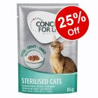 12 x 85g Concept for Life Wet Cat Food – 25% Off!*