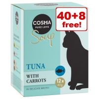 48 x 40g Cosma Soup Wet Cat Food - 40 + 8 Free!*