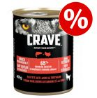 6 x 400 g Crave Adult -koiranruoka erikoishintaan!