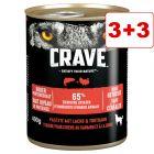 6 x 400 g Crave Adult -märkäruoka : 3 + 3 kaupan päälle!