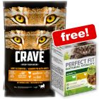 2 x 750g Crave Dry Cat Food + 6 x 50g Perfect Fit Natural Vitality Free!*