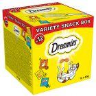 12 x 60 g Dreamies kattensnack mixbox  (Kip, Kaas, Zalm)