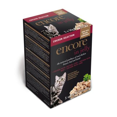 20 x 50g Encore Multipack Pouches in Jelly Cat Food - 16 + 4 Free!*