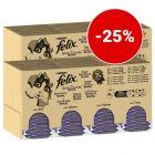 25% Έκπτωση! 240 x 85 g Felix Υγρή Τροφή για Γάτες