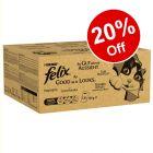 240 x 100g Felix As Good As It Looks Mega Packs - 20% Off!*