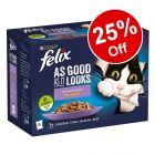 48 x 100g Felix As Good As It Looks Wet Cat Food - 25% Off!*