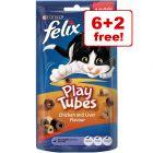 8 x 50g Felix Play Tubes - 6 + 2 Free!*