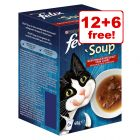 18 x 48g Felix Soup Wet Cat Food - 12 + 6 Free!*