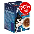 48 x 48g Felix Soup Wet Cat Food - 20% Off!*