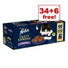 40 x 80g Felix Tasty Shreds Jumbo Pack – 34 + 6 Free!*