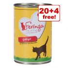 24 x 400g Feringa Classic Meat Menu Wet Cat Food - 20 + 4 Free!*