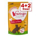 6 x 30g Feringa Crunchy Bites Cat Treats - 4 + 2 Free!*