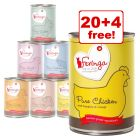24 x 410g Feringa Pure Meat Menu Mixed Pack Wet Cat Food - 20 + 4 Free!*