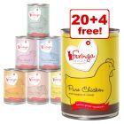 24 x 410g Feringa Pure Meat Menu Wet Cat Food - 20 + 4 Free!*