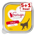 6 x 100g Feringa Trays Wet Cat Food - 5 + 1 Free!*