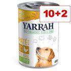 12 x 380 g/400 g/405 g/820 g Yarrah Bio -märkäruoka: 10 + 2 kaupan päälle!