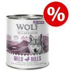 """6 x 400 g / 800 g Wolf of Wilderness """"Free-Range Meat"""" za zkušební cenu"""