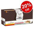 60 x 85g Gourmet A La Carte Wet Cat Food - 20% Off!*
