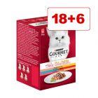24 x 50 g Gourmet Mon Petit kissanruoka: 18 + 6 kaupan päälle!