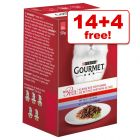 18 x 50g Gourmet Mon Petit Wet Cat Food - 14 + 4 Free!*