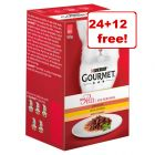 36 x 50g Gourmet Mon Petit Wet Cat Food - 24 + 12 Free!*