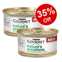 24 x 85g Gourmet Nature's Creations Cat Food - 35% Off!*