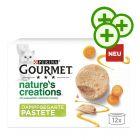 12 x 85 g Gourmet Nature's Creations: 3-kertaisesti zooPisteitä