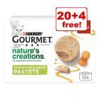 24 x 85g Gourmet Nature's Creations Pâté Cat Food - 20 + 4 Free!*