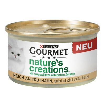 12 x 85g Gourmet Nature's Creations Wet Cat Food - 10 + 2 Free!*