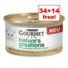 48 x 85g Gourmet Nature's Creations Wet Cat Food - 34 + 14 Free!*