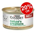 12 x 85g Gourmet Nature's Creations Wet Cat Food - 20% Off!*