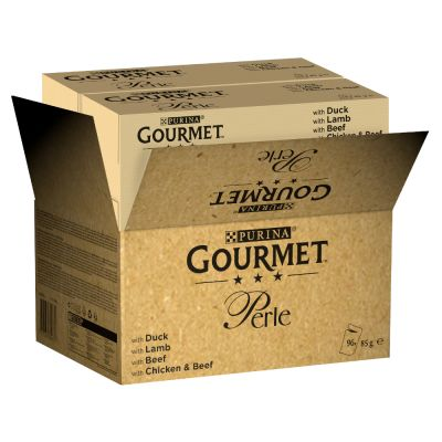 96 x 85g Gourmet Perle Pouches Mixed Pack Wet Cat Food - 80 + 16 Free!*