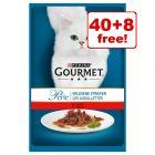 48 x 85g Gourmet Perle  Wet Cat Food - 40 + 8 Free!*