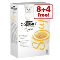 12 x 40g Gourmet Soup Wet Cat Food - 8 + 4 Free!*