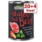 24 x 400g Greenwoods Adult Wet Dog Food - 20 + 4 Free!*