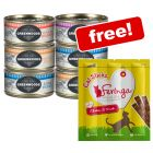 12 x 70g Greenwoods Wet Cat Food + 3 x Feringa Chicken & Duck Sticks Free!*
