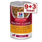 12 x 354g Hill's Healthy Cuisine Stews Wet Dog Food - 9 + 3 Free!*