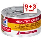12 x 79g Hill's Science Plan Adult Healthy Cuisine - 9 + 3 Free!*