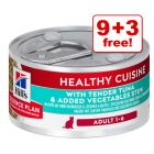 12 x 79g Hill's Science Plan Adult - Tuna and Vegetable Stew 9 + 3 Free!*