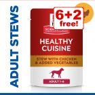 8 x 80g Hill's Science Plan Canine Healthy Cuisine - 6 + 2 Free!*
